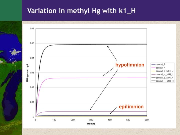 Variation in methyl Hg with k1_H