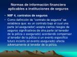 normas de informaci n financiera aplicables a instituciones de seguros1