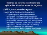 normas de informaci n financiera aplicables a instituciones de seguros6