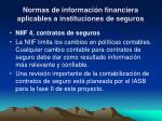 normas de informaci n financiera aplicables a instituciones de seguros8