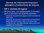 normas de informaci n financiera aplicables a instituciones de seguros9