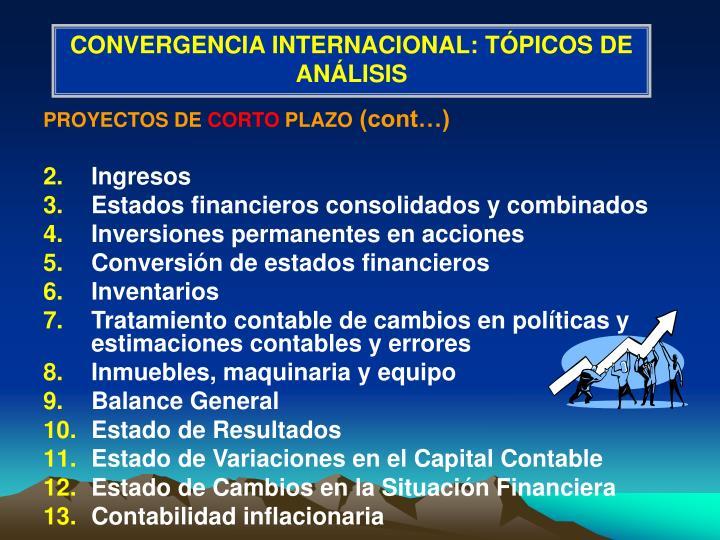 CONVERGENCIA INTERNACIONAL: TÓPICOS DE ANÁLISIS