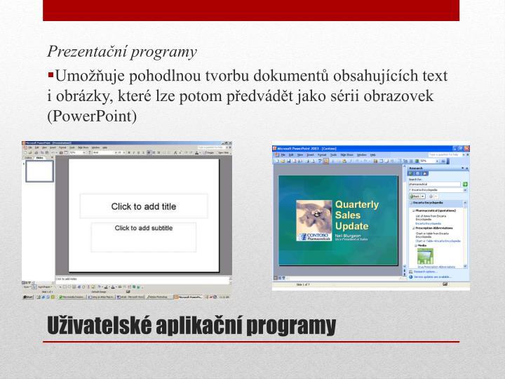 Prezentační programy