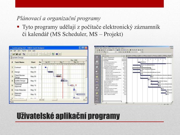 Plánovací a organizační programy