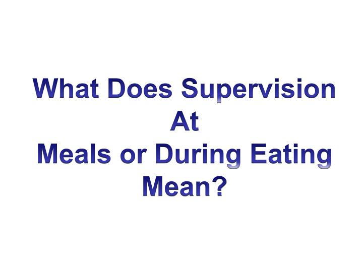 What Does Supervision