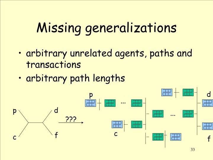 Missing generalizations