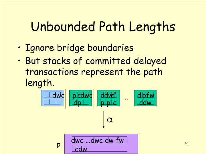 Unbounded Path Lengths