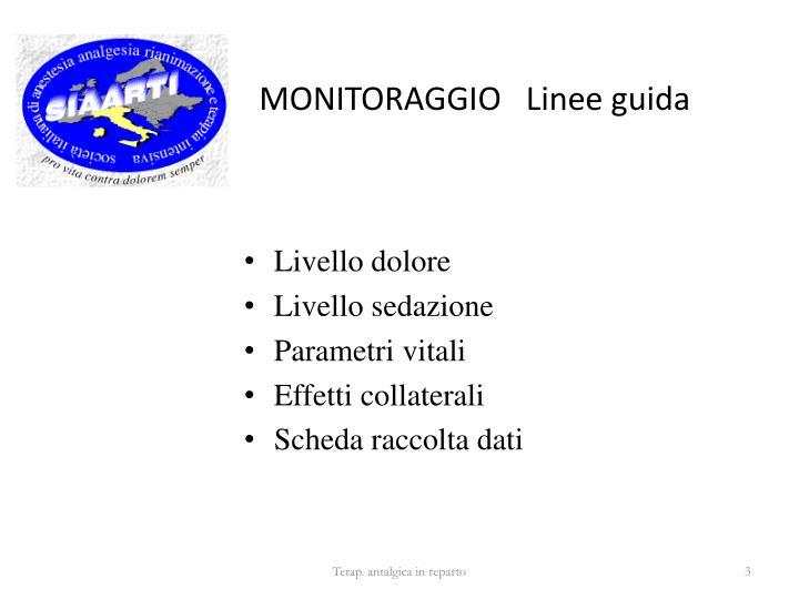 MONITORAGGIO   Linee guida