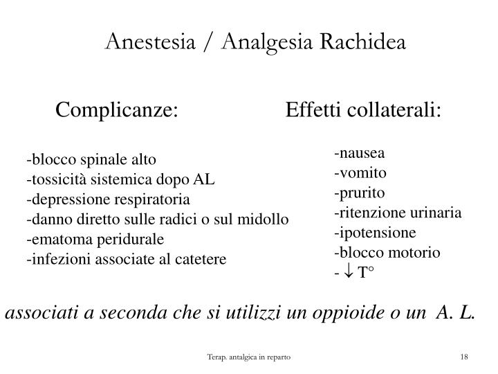 Anestesia / Analgesia Rachidea