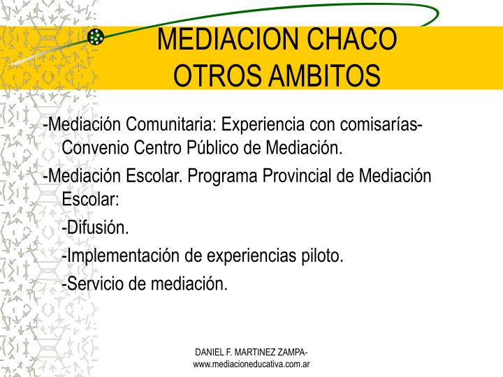 MEDIACION CHACO