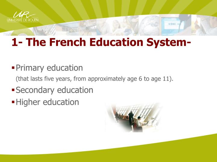 1- The French Education System-