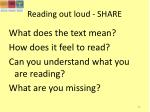 reading out loud share