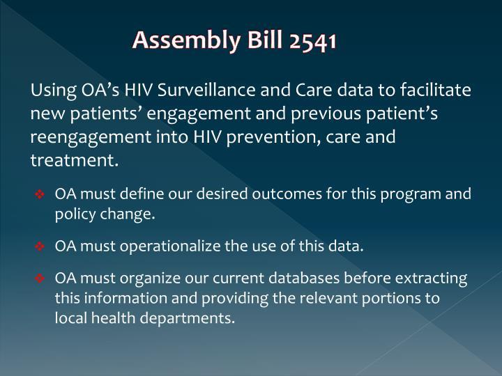 Assembly Bill 2541