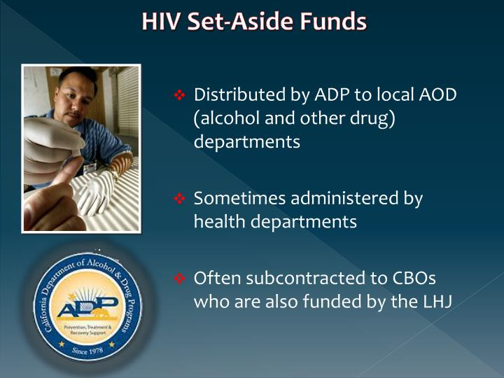 HIV Set-Aside Funds