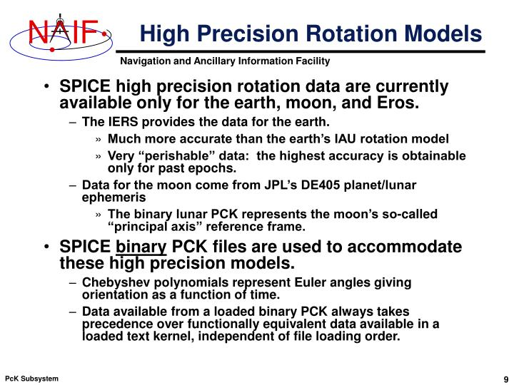 High Precision Rotation Models