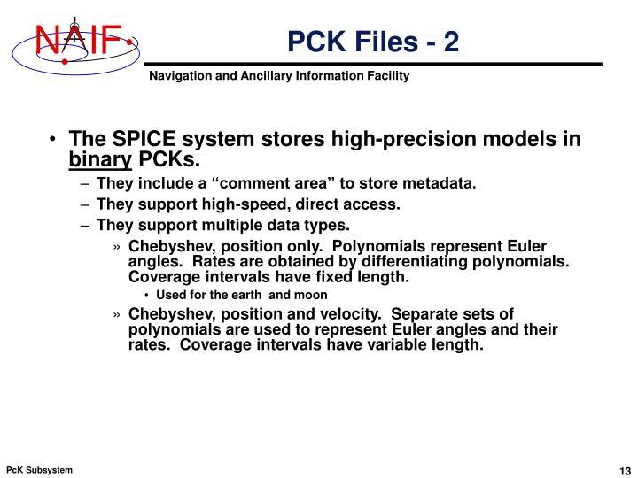 PCK Files - 2