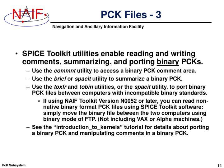 PCK Files - 3