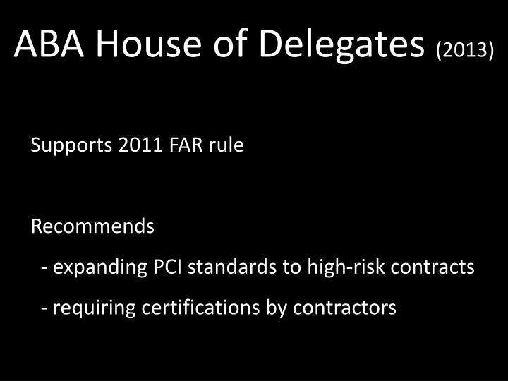 ABA House of Delegates