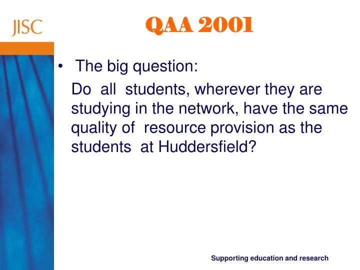 QAA 2001