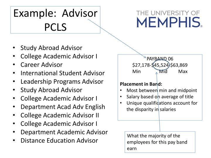 Example:  Advisor PCLS