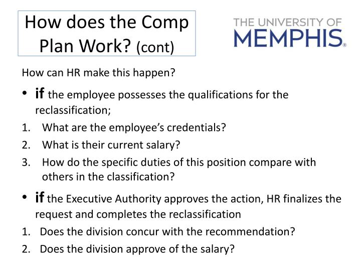 How does the Comp Plan Work?