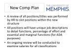 new comp plan