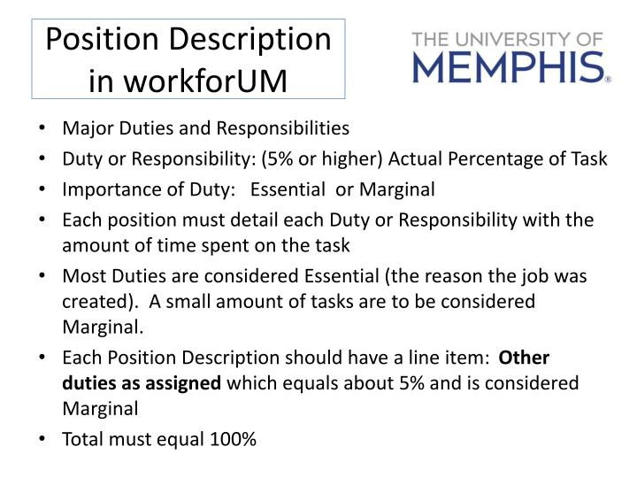 Position Description in