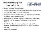 position description in workforum