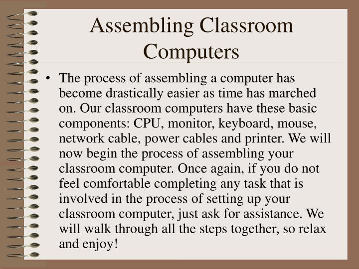 Assembling Classroom Computers