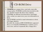 cd rom drive