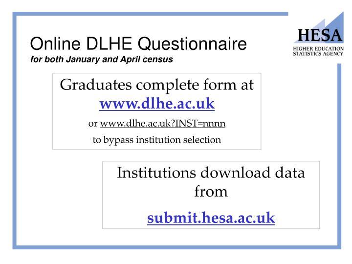 Online DLHE Questionnaire