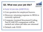 q3 what was your job title