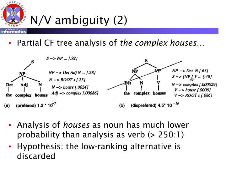 N/V ambiguity (2)