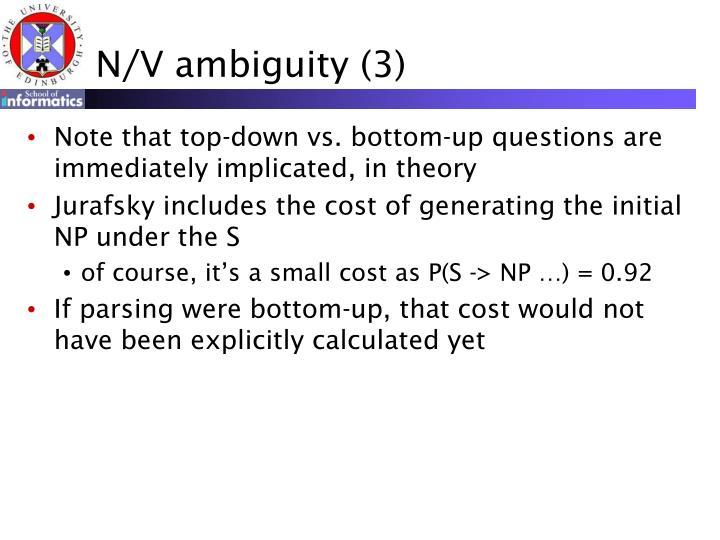 N/V ambiguity (3)