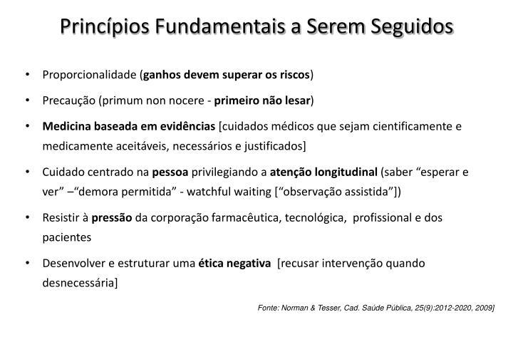 Princípios Fundamentais a Serem Seguidos