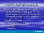 touble shooting diagnose 3