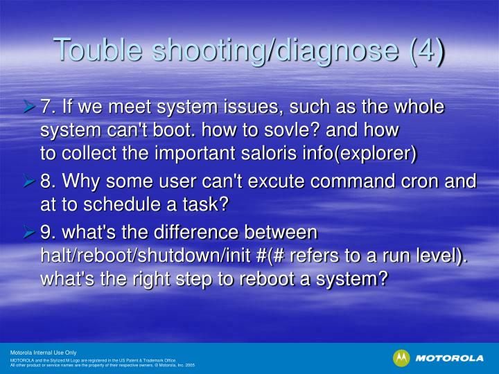 Touble shooting/diagnose (4)