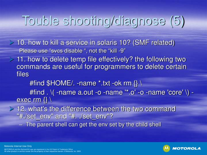 Touble shooting/diagnose (5)