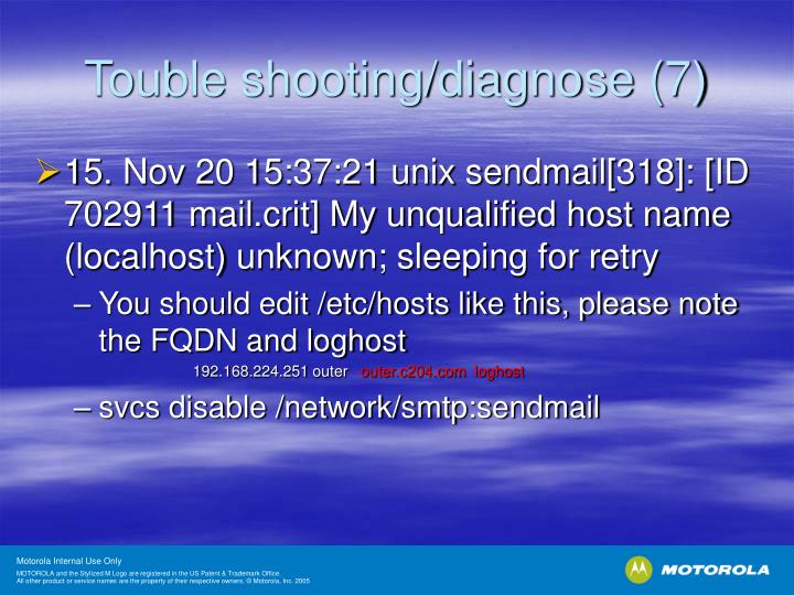 Touble shooting/diagnose (7)