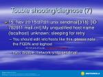 touble shooting diagnose 7