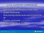 unix common commands