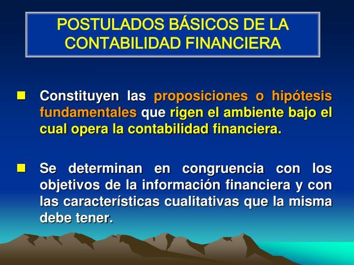 POSTULADOS BÁSICOS DE LA CONTABILIDAD FINANCIERA