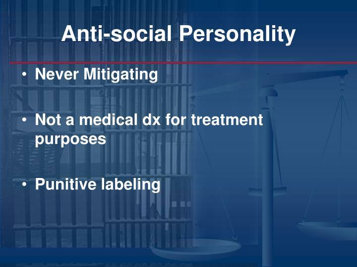 Anti-social Personality