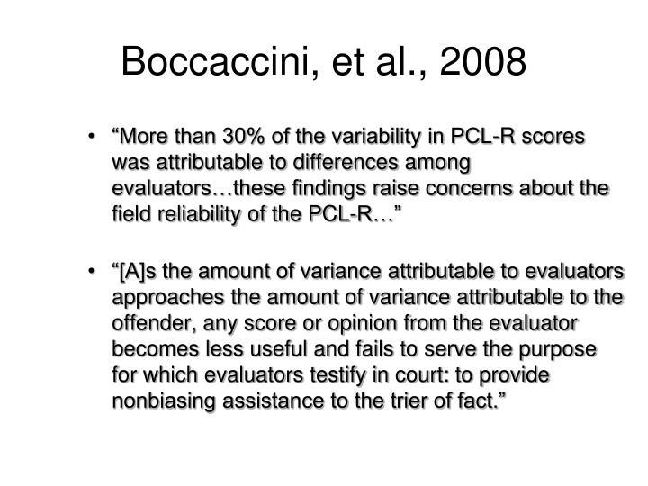 Boccaccini, et al., 2008