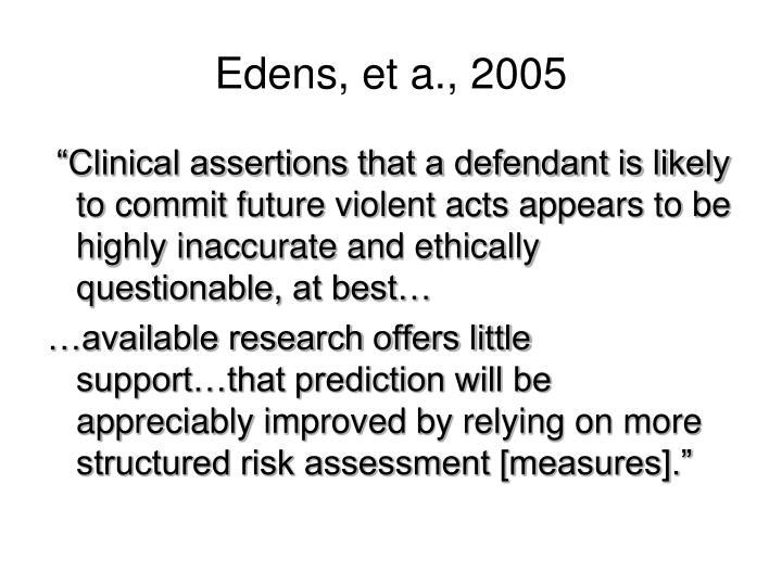 Edens, et a., 2005