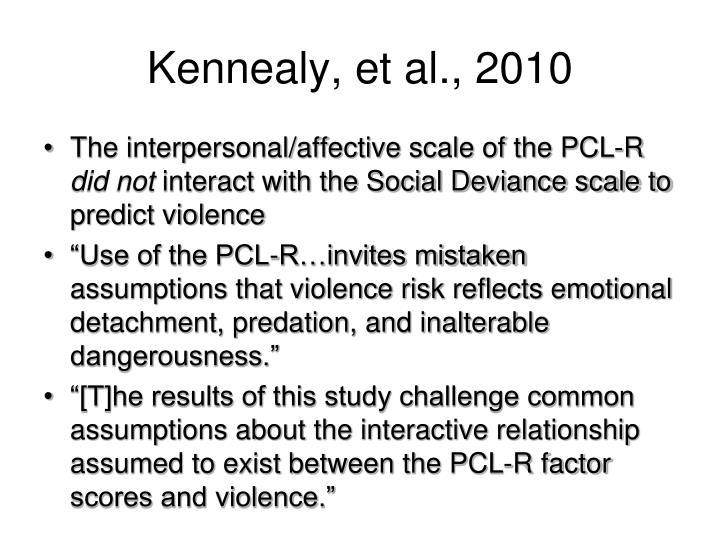 Kennealy, et al., 2010