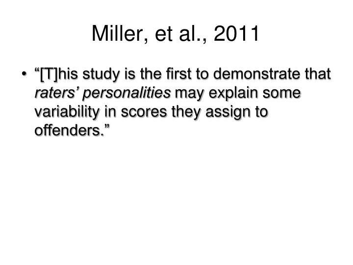 Miller, et al., 2011