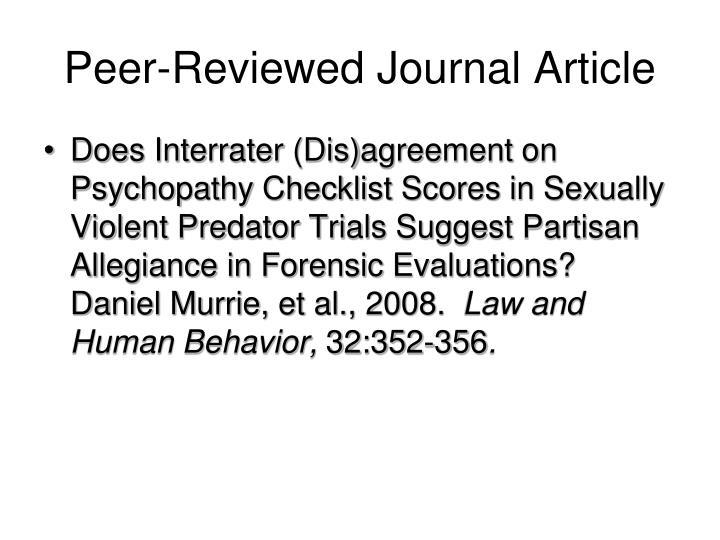 Peer-Reviewed Journal Article