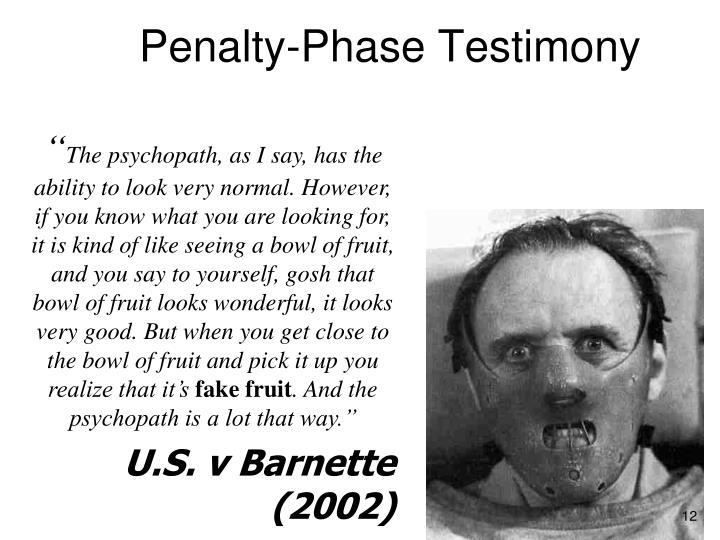Penalty-Phase Testimony