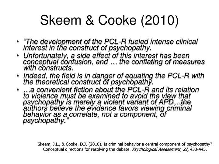 Skeem & Cooke (2010)